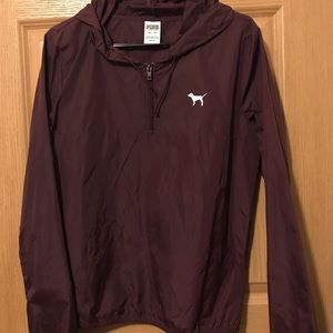 XS pink burgundy lightweight pull over